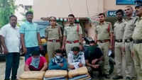 Visakhapatnam: 40 kg cannabis seized by police, 4 arrested