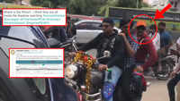 Bizarre antics! Ram Gopal Varma rides pillion without helmet, gets fined by traffic cops later
