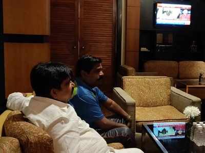 Rebel Karnataka MLAs watch Karnataka crisis unfold on TV; no going back says BC Patil