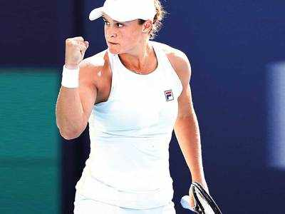 Barty to face Andreescu in Miami, Tsitsipas bows out