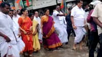 Chennai walkathon: Nirmala Sitharaman wades through waterlogged street