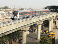 Ahmedabad Metro's first trial run conducted