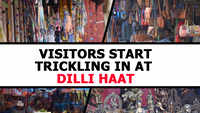 Visitors start trickling in at Dilli Haat
