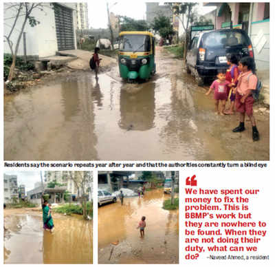 Marooned residents pool in money to do BBMP's work