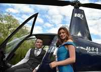Miss England surprises terminally-ill boy by taking him to school in a helicopter