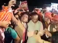 Viral video: Jabalpur SP dances with Cong minister, EC orders probe