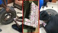 On cam: Cash recovered from vehicle's stepney wheel in Karnataka ahead of third phase of Lok Sabha polls