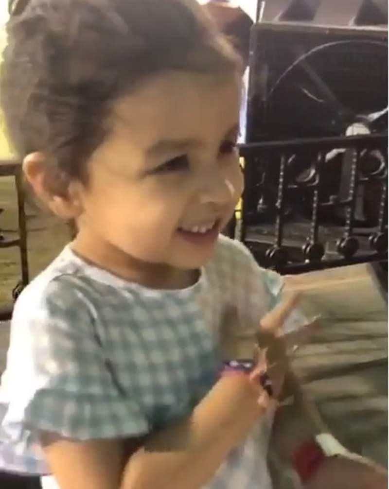 When Ziva wanted to hug her papa, Chennai Super Kings captain, MS Dhoni in the middle of an IPL match