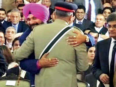 Will you criticise Navjot Singh Sidhu for hugging Pakistan's army chief?