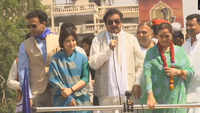 Shatrughan Sinha's wife Poonam Sinha holds massive roadshow in Lucknow