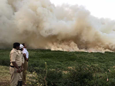 Bengaluru: Bellandur Lake catches fire yet again, creates chaos