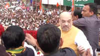 Maharashtra polls: Amit Shah holds roadshow in Pune's Shirur