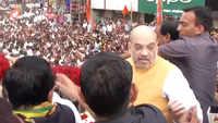 Maharashtra polls: Amit Shah holds roadshow in Pune's Shirur