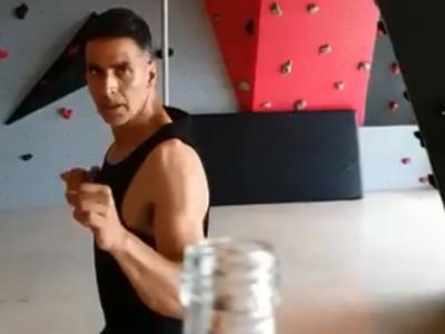 Watch: Akshay Kumar nails the latest viral challenge after Jason Statham and John Mayer