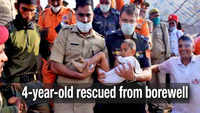Agra: After 8 hours of operation, 4-year-old rescued from 180 feet deep borewell