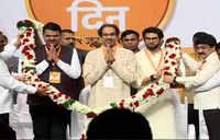 CM Fadnavis attends Shiv Sena's 53rd Foundation Day celebration