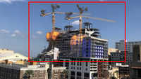On cam: Cranes demolished at collapsed hotel in New Orleans