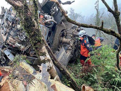 Taiwan army chief among eight killed in copter crash