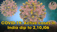 COVID-19: Active cases in India dip to 2,10,l06