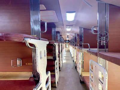 Mumbai-Delhi Rajdhani gets a Tejas class smart coach