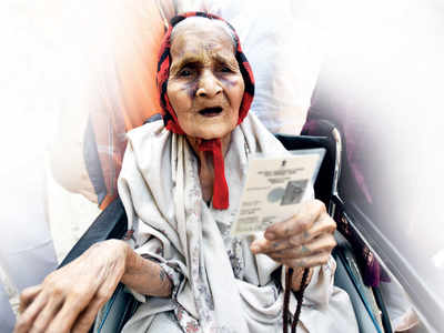 Every vote matters, even 'Ajji's': Putting many youngsters to shame, 99-year-old woman casts her vote
