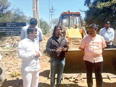 Rejuvenation work starts at Sompura Lake