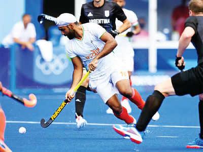 India score thrice, beat Argentina