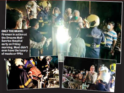 Mumbai heroes: 25 firemen and officers who didn't think twice before entering Covid ward of Sunrise Hospital are now isolating