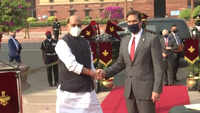 US Secretary of Defence inspects Guard of Honour at Delhi's South block