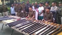 Arms, ammunition recovered from Bihar's Munger, 4 arrested