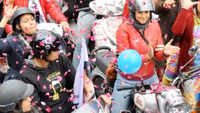 Politicians follow Bollywood formula, take tractors and bikes to election campaigns