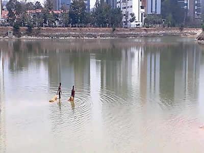 Fishing for trouble at Mahadevpura Lake