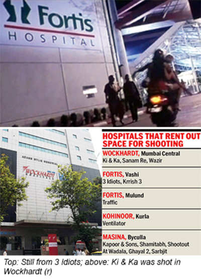 Hospitals turn shooting spots to reel in publicity