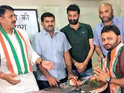Grandson of BJP MP quits party, joins Cong