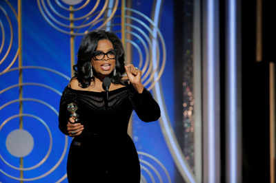 Oprah Winfrey gets Cecil B DeMille honour and standing ovation at Golden Globe Awards 2018