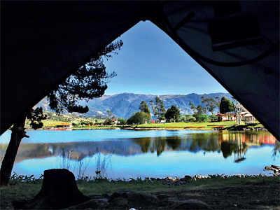 Enjoy lakeside camping