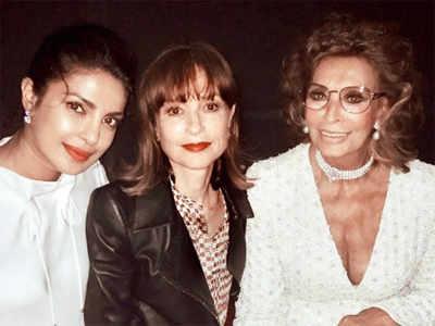 Priyanka Chopra's fangirl moment with Sophia Loren