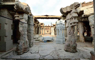 Replica work in Hampi was just for show