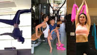 Watch! Kareena Kapoor Khan's unbelievable yoga routine, Shilpa Shetty's workout with son Viaan, Tiger Shroff's back flip videos