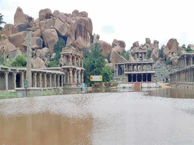 Temples in heritage site Hampi submerged