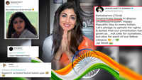 Oops! Shilpa wishes 'Independence Day' instead of 'Republic Day'