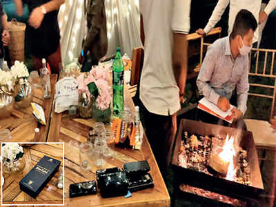 College students' booze party busted in G'nagar