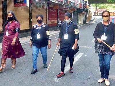 Cops team up with all-women groups to curb spread of virus