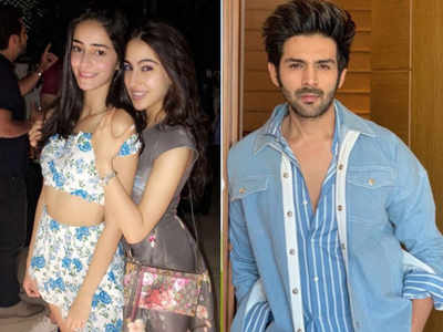 When Sara Ali Khan and Ananya Panday come to support Kartik Aaryan