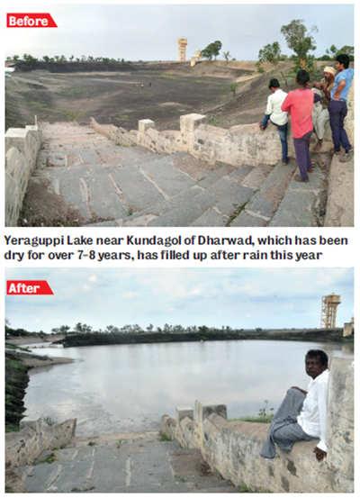 Karnataka: Cloud seeding bears fruit: Lakes in Central Karnataka come alive