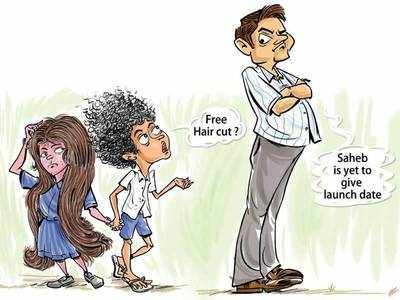 Politician in students' hair