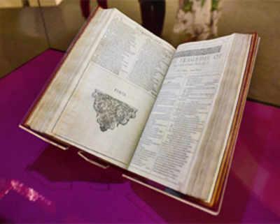 Shakespeare's First Folio flies to Mumbai