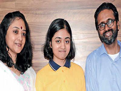 It's AIR 10 for IIMA prof's daughter