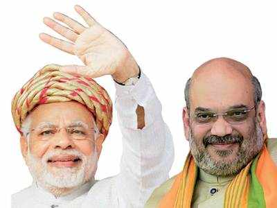 Modi, Shah make a dash for Gujarat