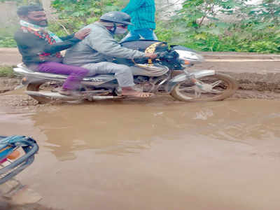 Shantipura Road is a pain in the back for motorists